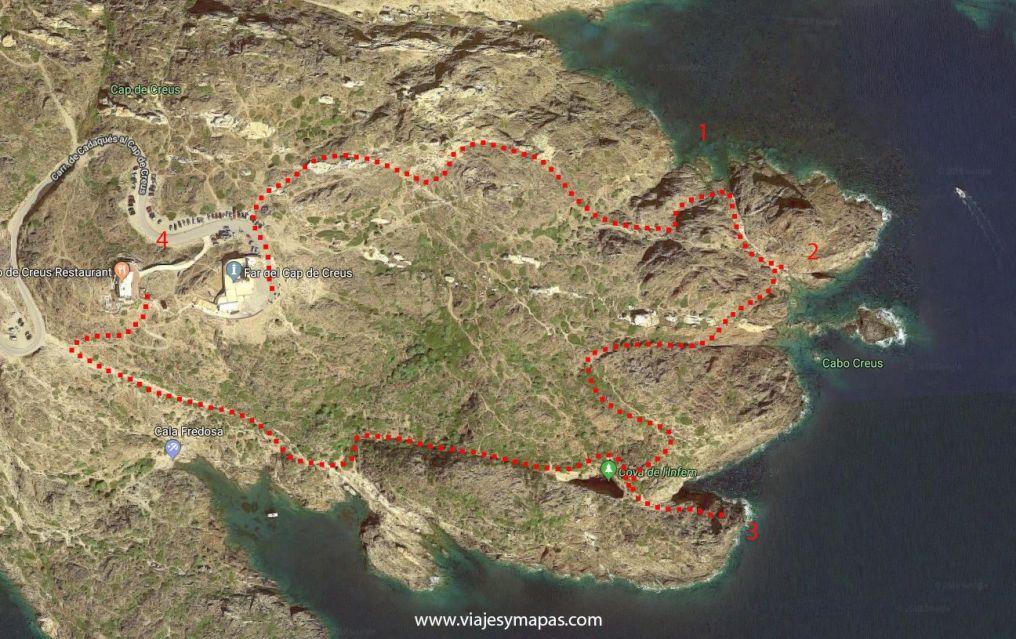 Ruta a la punta del Cabo de Creus