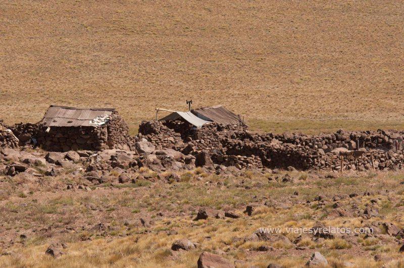Una casita mapuche en el parque nacional