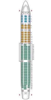 Configuración en un A340