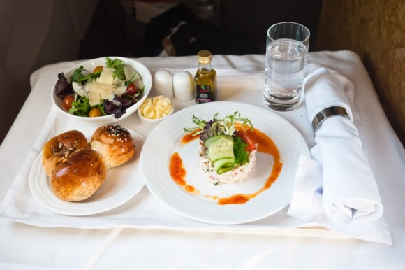 comida de avión primera clase