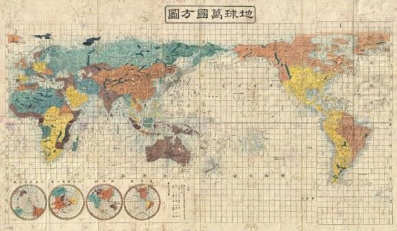 mapa japonés antiguo