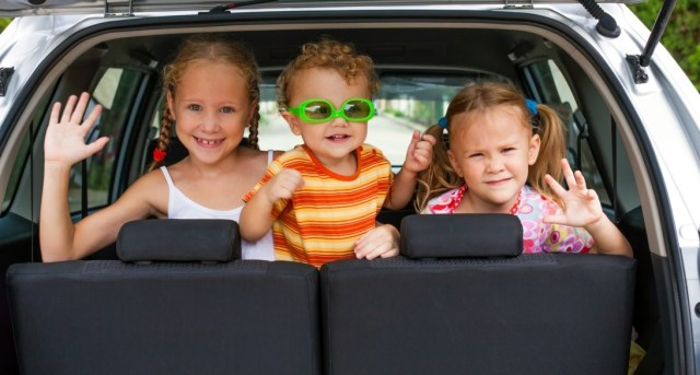 viajar en carretera con niños