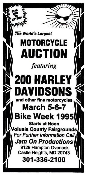 subasta de Harley davidson