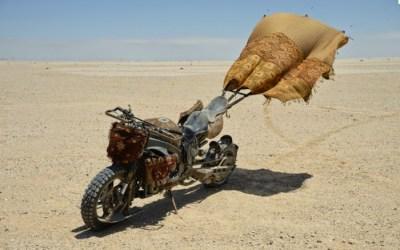 Podría ser una Yamaha R1 o una Honda CBR...