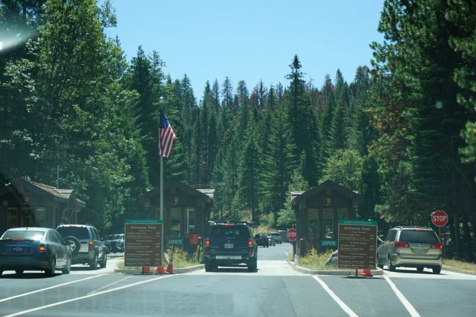 Entrando no Yosemite National Park