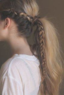 ponytail braid blonde