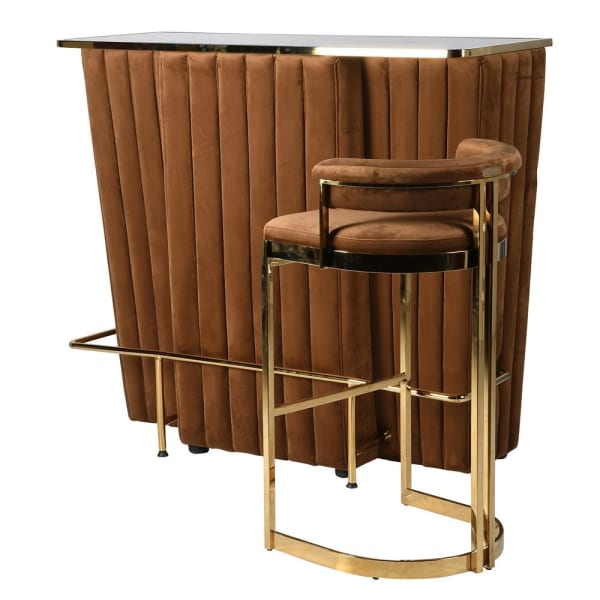 caramel deco velvet bar with stool