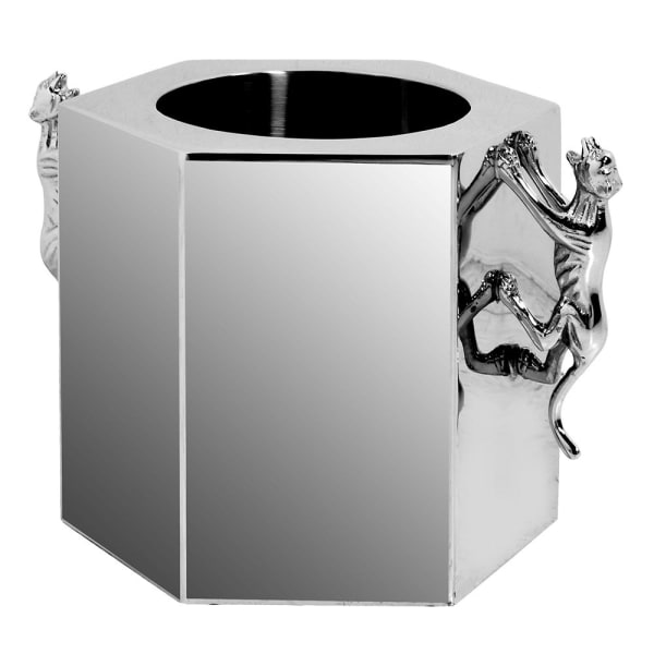 Hex panther silver wine cooler