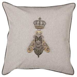 Bee and crown cushion