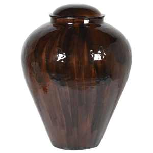 Burnt henna enamel vase