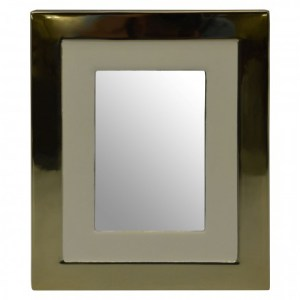 Gold and white photograph frame (small)