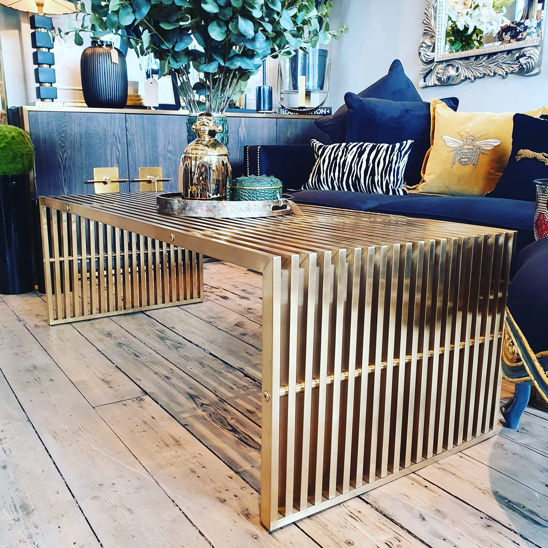gold coffee table viano interiors