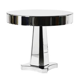 Round mirrored table