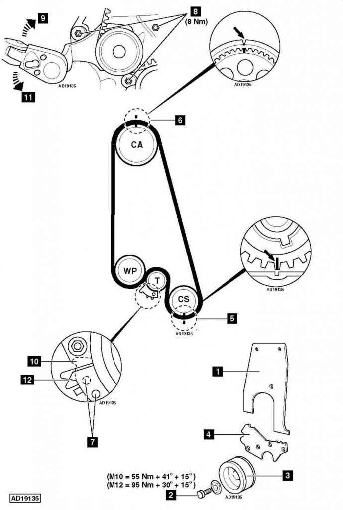 Engine Timing Diagram How To Replace Timing Belt Hyundai