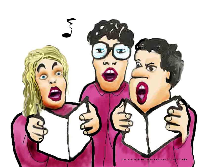 Een vals zingend koor of een gemeente die elkaar heeft leren aanvullen?