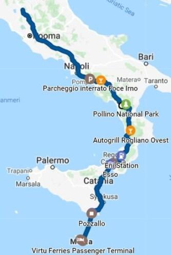 Road Trip 3597  Korona road trip Day 4. Pollino National Park - St.Paul's Bay, Malta