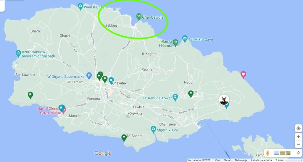 gozo rantoja kartta marsalforn