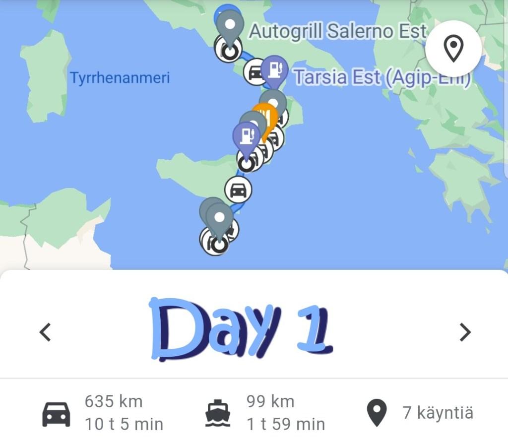 Road trip Italia Day 1