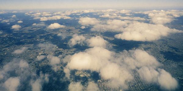 Visão do avião