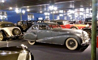 Rows and rows of Bugatti's and other glamorous French automotive creations!