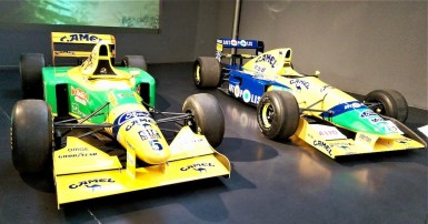 Benetton F1 cars raced by Schumacher, Patrese and Piquet