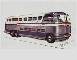 Greyhound Bus from the Fifties