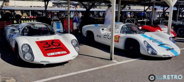Pair of Porsche 910's