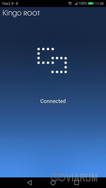 Kết nối với Kingo Android Root đã cài đặt