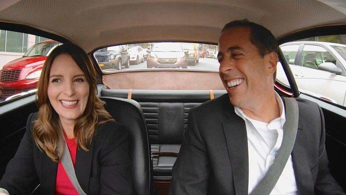 Tina Fey y Jerry Seinfeld en un episodio de la nueva serie