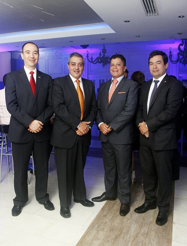 Juan Carlos Restrepo, Marcelo Rivas, Jorge Cabeza y Jorge Salari