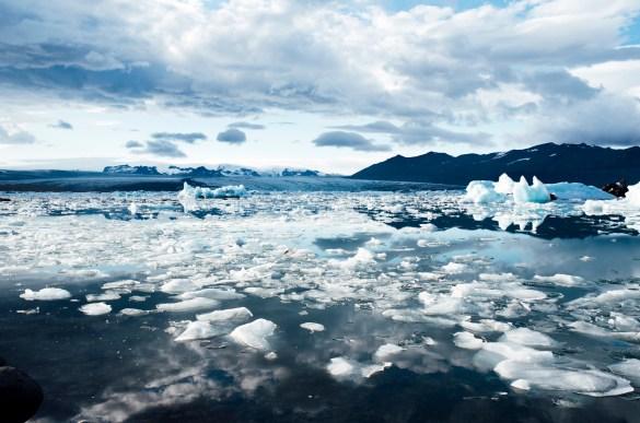 hielo en derretimiento