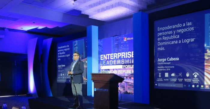 Jorge Cabeza en Empowering The Enterprise, realizado en La Romana