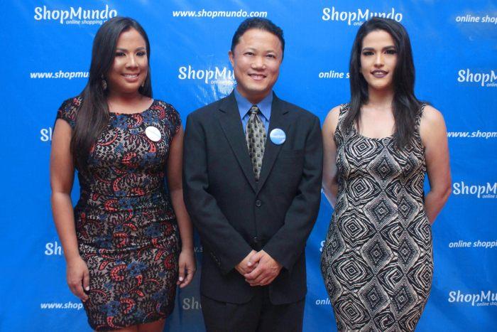 Paola Joa, Danny Wang y Elizabeth Andújar en presentación ShopMundo