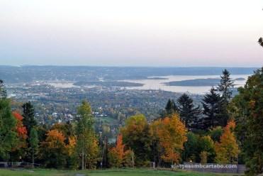 Vista general d'Oslo des de Holmenkollen