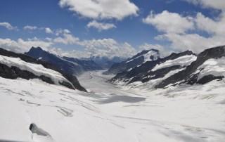 La glacera d'Aletsch des de Jungfraujoch