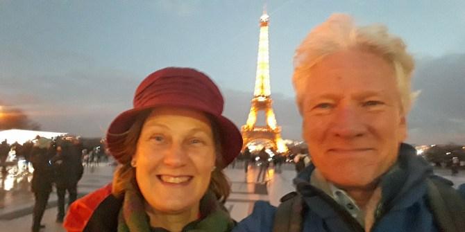 Ivonne Smit en Ton Kemp bij Eiffeltoren