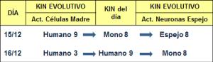 Evolutivos del mono 8 y humano 9