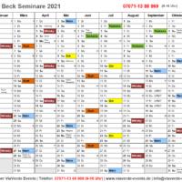 Jahresplan Weinhaus Beck Seminare