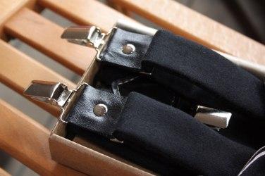 Подтяжки для брюк черные, твид