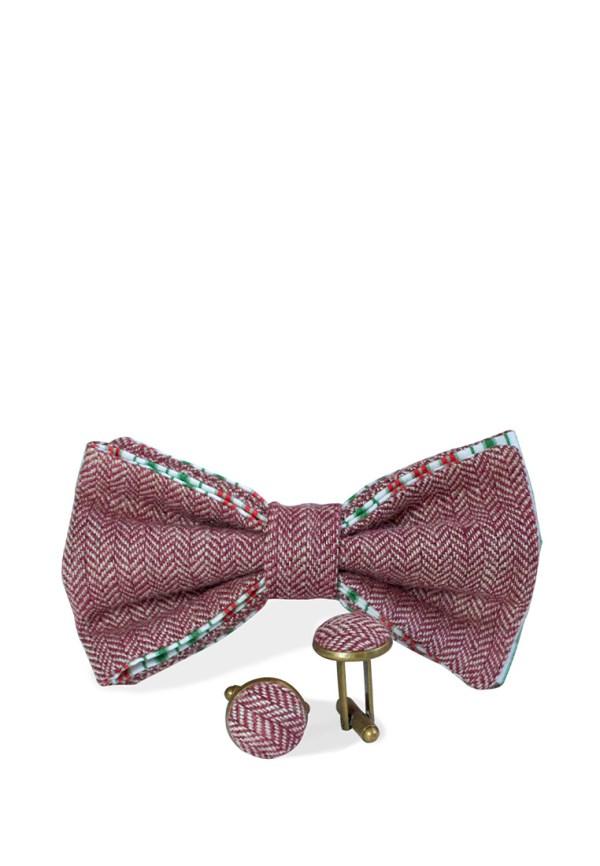 Галстук-бабочка с запонками, идея подарка мужчине