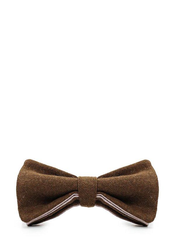 галстук-бабочка твид горчичный