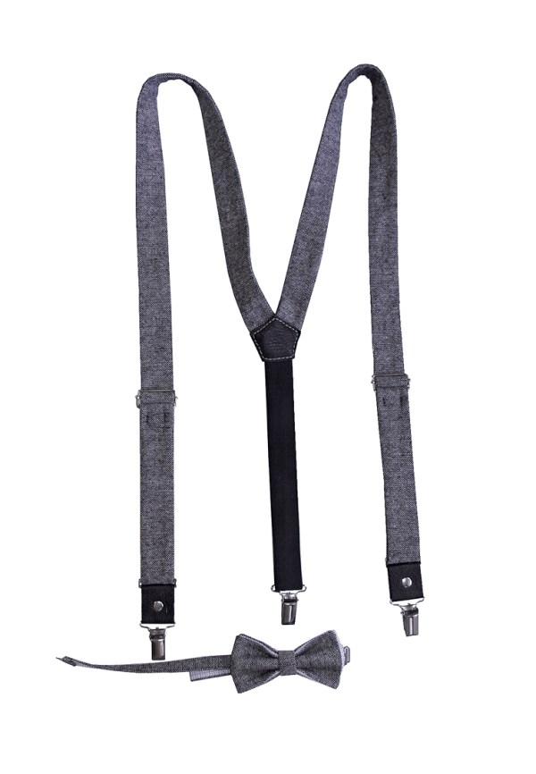 Подтяжки для брюк, подтяжки мужские серые, Подтяжки Ламода, ViaVestis