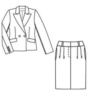 Костюм женский, костюм на заказ, Костюм с юбкой, костюм брючный
