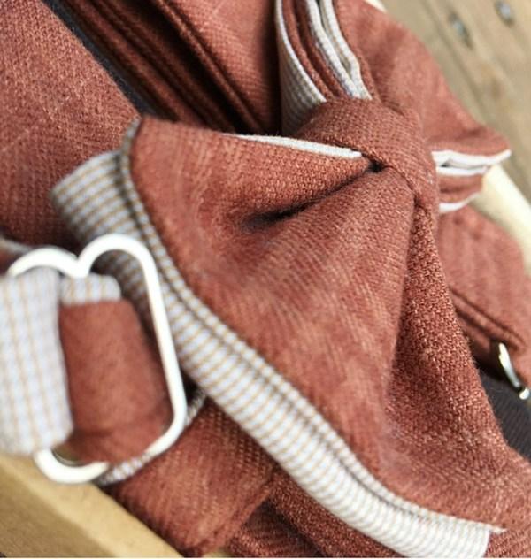 Подтяжки для брюк. Терракотовый твид, коричневая кожа