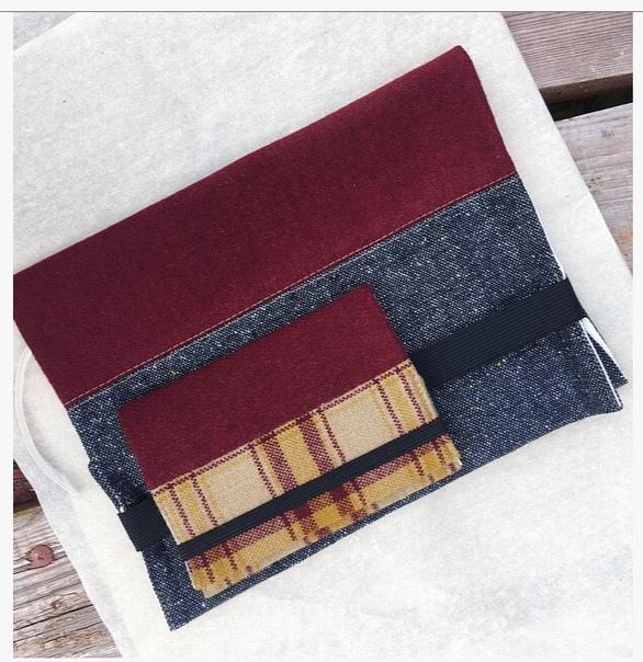 Обложка для книги и ежедневника текстильная
