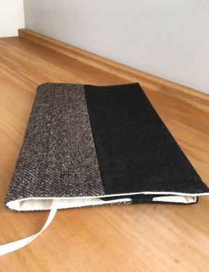 Обложка для книги и ежедневника из коричневого твида