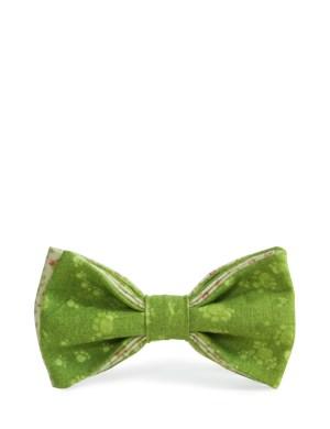 Галстук-бабочка хлопок зеленый