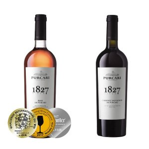 Moldawische Weinverkostungspaket: Rose de Purcari von Chateau Purcari und Cabernet de Purcari von Chateau Purcari