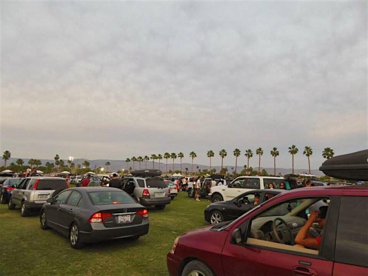 Car Camping queue at Coachella