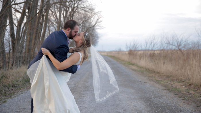 puzzle picture perfect wedding day love story for Bryan and Kathryn. Married at Hidden Hollow Farm in Crawfordsville, IN